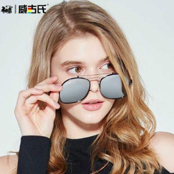 威古氏偏光太阳镜女潮新款墨镜男女大框圆脸时尚个性眼镜3175