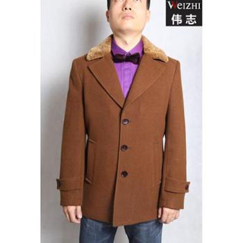 伟志男装 修身翻领款大衣 DY4505