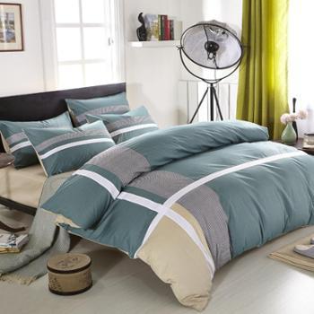 现代简约全棉活性时尚休闲床单式床上用品全棉四件套多款可选