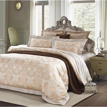 【礼道礼品】 富安娜 床单四件套-翡翠罗浮 床单、被套、枕巾*2
