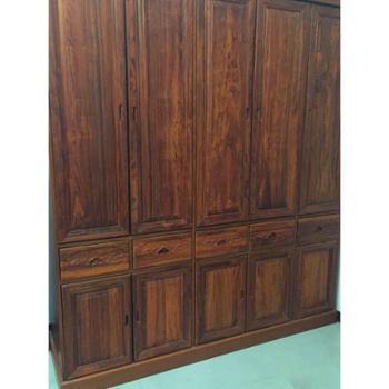 万森木业 缅甸黄花梨纯实木衣柜