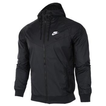 Nike耐克外套男装2017风行者梭织防晒服跑步防风衣连帽夹克727325-010