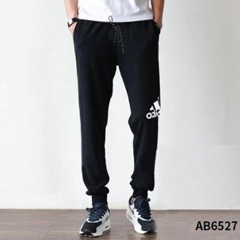 adidas阿迪达斯运动型格男子针织长裤黑AB6527SF