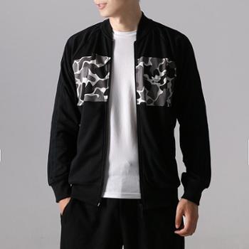 阿迪达斯三叶草男装运动服针织夹克外套DN8035DN8036SH