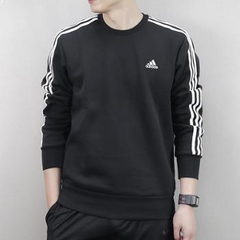 阿迪达斯adidas卫衣男运动服圆领保暖长袖男士套头衫S98803SH