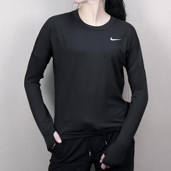 Nike耐克女上衣新款透气休闲跑步运动紧身速干943468-010H