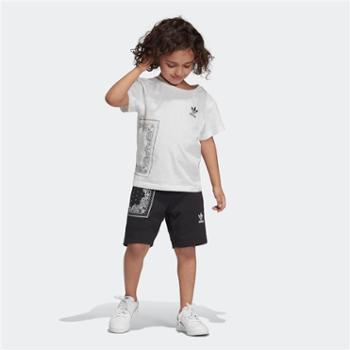 阿迪达斯三叶草BANDANATEESET小童短袖运动套装DW3839