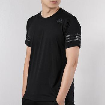 adidas阿迪达斯夏季男子运动训练透气短袖T恤CW3927-S