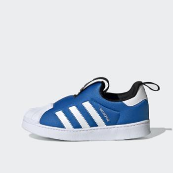 adidas三叶草贝壳头童鞋男女婴幼童运动鞋软底板鞋S74740