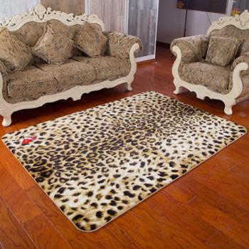 鸣球家居客厅地毯弹力丝毛地毯卧室茶几地毯床边沙发满铺婚庆豹纹地毯