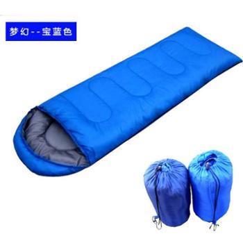 厂家直销新品特价户外装备春夏信封式睡袋 中空棉野营睡袋 带帽睡袋午休成人睡袋
