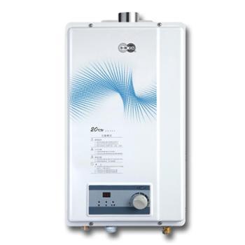 玉环10升燃气热水器强排式机械控制温度显示Q20-D