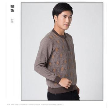 巴音孟克男装纯羊绒衫毛衣半高领拉链加厚羊绒衫