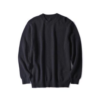 巴音孟克内蒙古加厚羊毛衫男式圆领毛衣