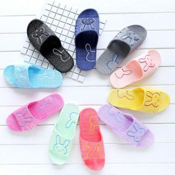 1155拖鞋女夏天居家浴室凉拖鞋防滑兔子塑料家居鞋凉拖