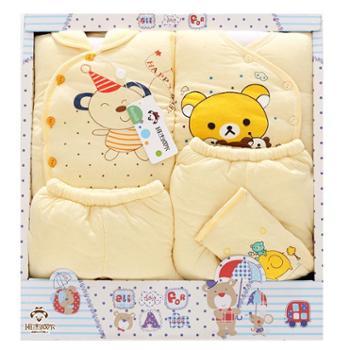 冬季加厚保暖新生儿衣服纯棉婴儿礼盒套装初生宝宝内衣服装用品
