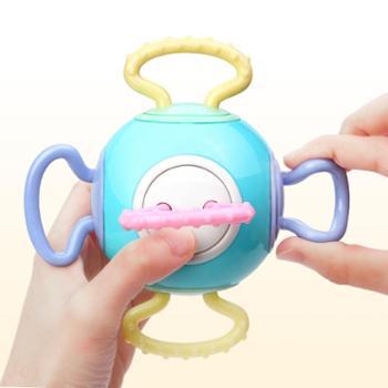 豆豆象宝宝牙胶磨牙棒咬咬胶手摇铃早教婴儿玩具曼哈顿手抓球