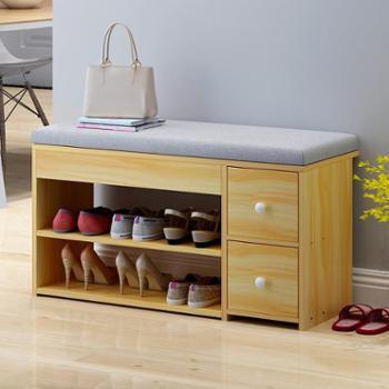 (生活用品鞋柜收纳)换鞋凳简约现代门口收纳凳进门鞋柜多功能北欧创意储物凳沙发凳子