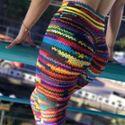 新款爆款数码印花打底裤麻绳毛线花朵树皮仿真印花瑜伽裤