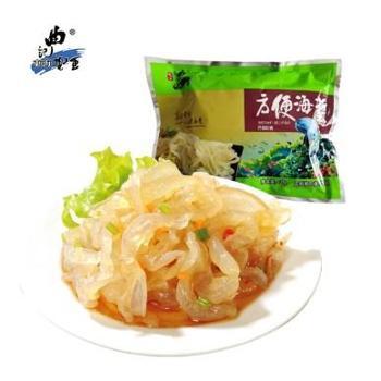 曲记海蜇 方便海蜇135g开袋即食 清脆爽口 山东特产,一包包邮