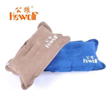 包邮Hewolf/公狼麂皮绒充气枕头户外旅行便推枕头露营靠枕1707