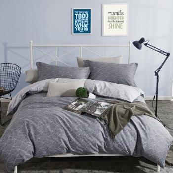 全棉四件套简约斜纹清新简约双人床床上用品四件套全棉
