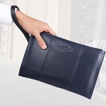 卓梵阿玛尼男士手拿包钱包头层牛皮手包男士手抓包男士钱包商务手拿包