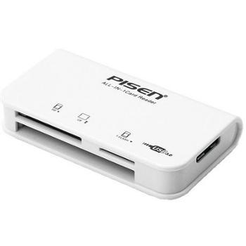 品胜 USB3.0高速传输版 TF、SD、CF、XD、SM 多盘符读卡器 读卡器(苹果白+吸塑装)