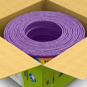 秋叶原(CHOSEAL)低烟无卤 国标纯铜 家装网线 紫色 305米超五类网线非屏蔽
