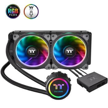 Thermaltake多平台/RGB冷头/软体/PLUS RGB风扇/240冷排RGB 240 一体式水冷CPU散熱器(