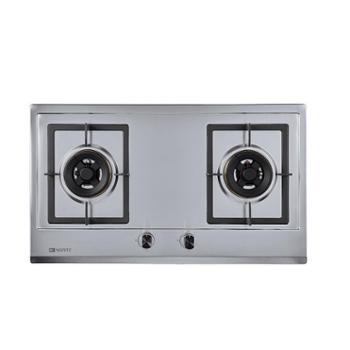 能率 1681S不锈钢燃气灶双灶嵌入式天然气台式猛火灶台炉