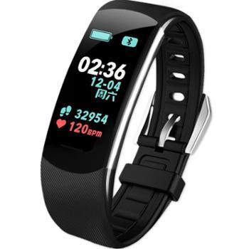 C4彩屏智能手环多功能心率血压游泳防水USB直充跑步手表健康监测