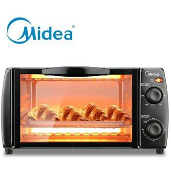 美的电烤箱T1-L101B多功能电烤箱家用烘焙小烤箱控温迷你蛋糕