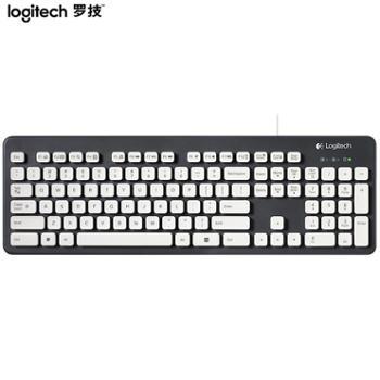 罗技(Logitech)K120K310K100键盘有线键盘办公键盘全尺寸黑色
