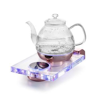 全自动底部上水电热烧水壶泡茶专用水晶玻璃抽水功夫茶具电磁茶炉