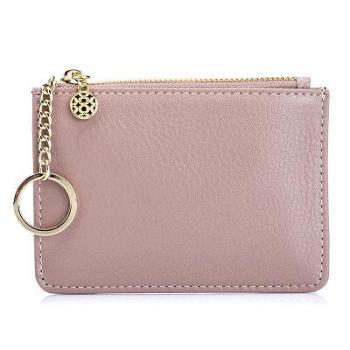 纯色硬币包女士真皮新款纯色简约迷你零钱包钥匙包薄