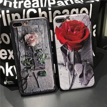 玫瑰花oppoR11浮雕手机壳tpu全包iPhoneX软壳硅胶x20/r9s保护套颜色随机(可备注)