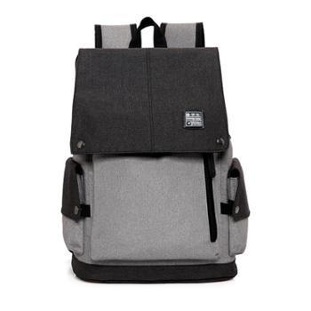 飞莎新款时尚男女同款休闲电脑双肩包包 百搭大容量背包爆款