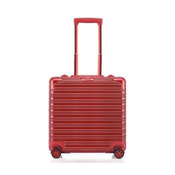 全配色17寸方形小型登机箱行李箱旅行箱金属包角铝框男女电脑箱