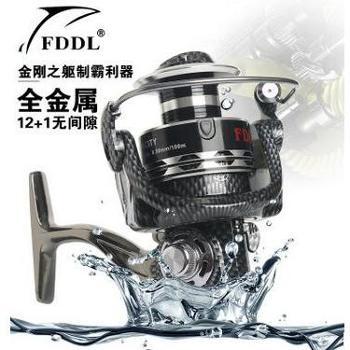 FDDL全金属渔轮13轴无间隙纺车轮钓鱼线轮矶钓轮绕线轮海竿轮渔具