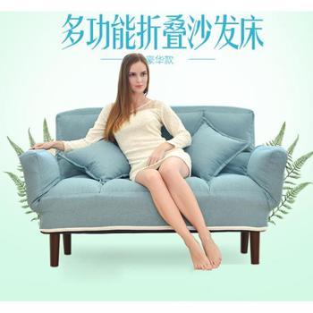 (生活用品)懒人沙发休闲沙发椅卧室单双人沙发可折叠多功能沙发床