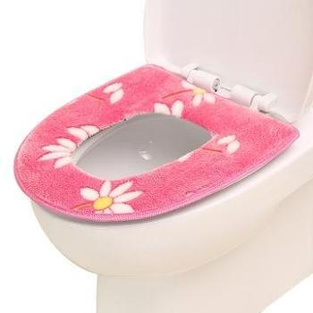 (生活用品)1个装冬季加厚马桶垫法兰绒坐垫马桶套成人卫生间坐厕垫坐便器垫子