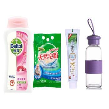滴露 专享4件套 (滴露沐浴露150g+洗皂粉500g+牙膏120g+环保水杯1个)