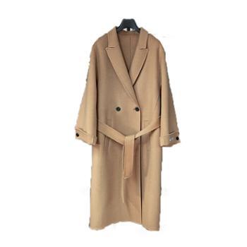 韩国大衣女中长款冬季新款宽松羊绒外套女双面羊绒大衣