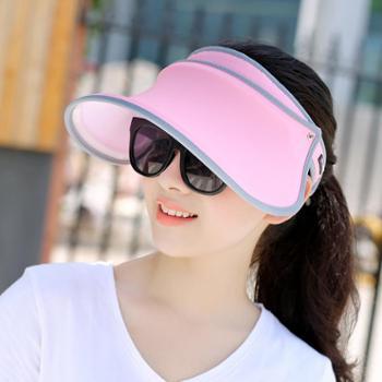 夏天遮脸防紫外线防晒帽遮阳帽户外出游太阳帽