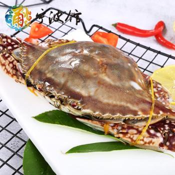 【宁波馆】红膏蟹咸蟹600g红膏呛蟹梭子蟹宁波特产海鲜炝蟹醉蟹整只即食