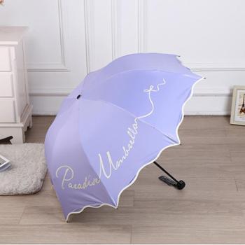 新品天堂伞33370E花丛兔内层可爱印花防晒遮阳太阳伞
