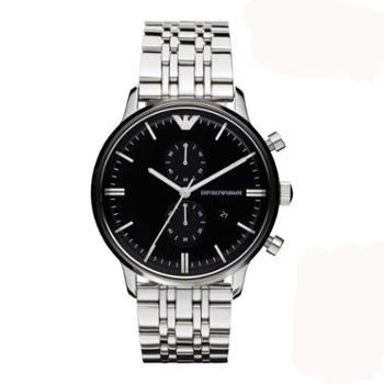 阿玛尼(ARMANI)手表简约时尚个性罗马数字男表多功能商务休闲款男士腕表