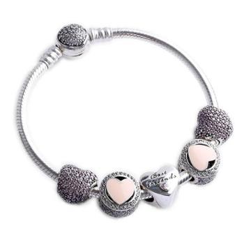PANDORA潘多拉手链 女士925银手镯 串珠成品套装套组手链 套装套组39