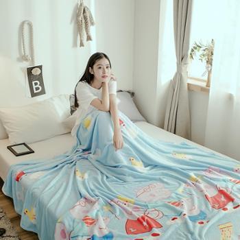 木辛梓法莱绒毛毯150*200CM毯子1.5米床上用品春秋冬天毯盖毯单人床单空调毯